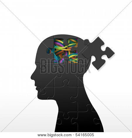 Psychology concept, eps10 vector