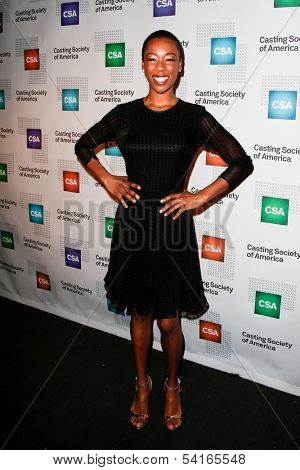 NEW YORK-NOV 18; Actress Samara Wiley attends the CSA 29th Annual Artios Awards ceremony at the XL Nightclub on November 18, 2013 in New York City.