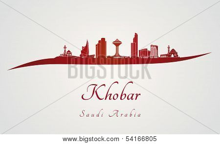 Khobar Skyline In Red