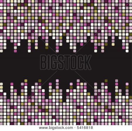 Stylish square banner. Vector illustration