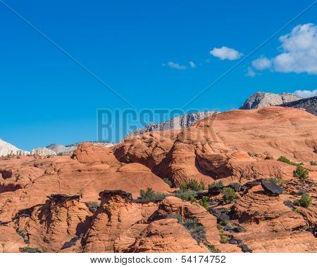 Sandstone Formations, Hidden Pinyon Trail, Snow Canyon State Park, UT