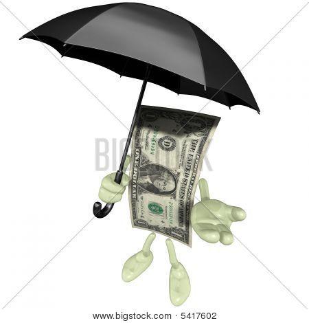 Money With Umbrella