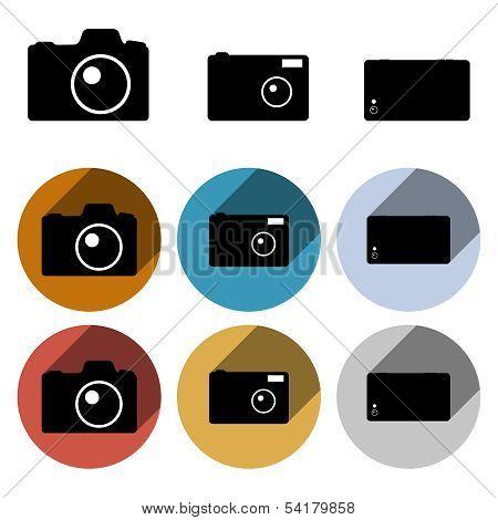 Vector Photo Camera Icon Set