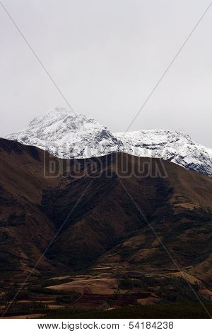 Snow Covered Slopes on Mount Cotacachi