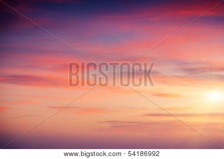 Beautiful nature background. Colorful sunset. Beauty world.