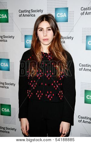 NEW YORK-NOV 18; Actress Zosia Mamet attends the CSA 29th Annual Artios Awards ceremony at the XL Nightclub on November 18, 2013 in New York City.