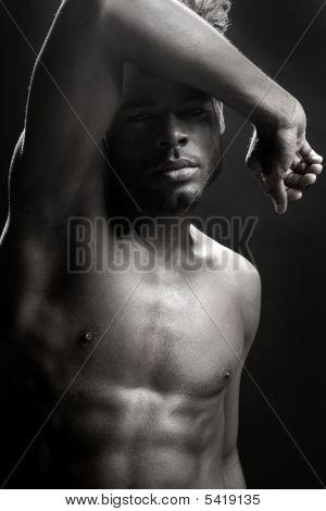 African American Nude Torso Black Sexy Man
