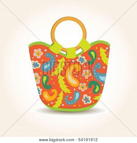 Vector illustration of Summer Woman Bag