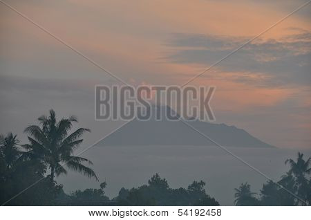 Mount Merapi at Sunrise