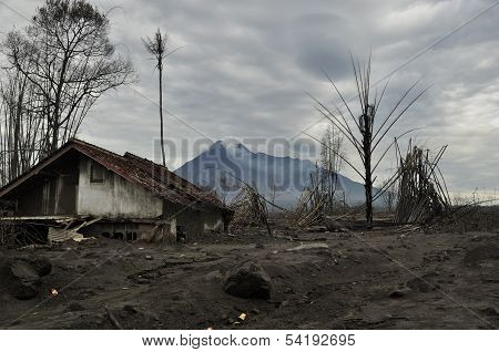 Village Damaged by Pyroclastic