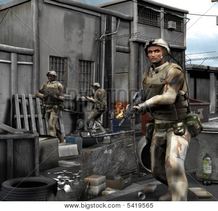 Patroling Soldiers