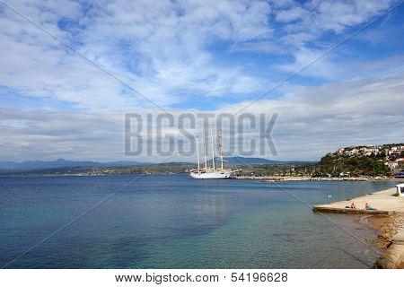 Luxury Sailfish Star Clipper In Navarino Bay, Greece