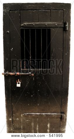 Borneo. Padlocked Cell Door