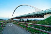 modern suspended bridge in Reggio Emilia - Italy