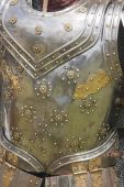 picture of breastplate  - Closeup of some traditional elizabethan breastplate armor - JPG