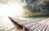 foto of silence  - boardwalk on beach - JPG
