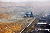 foto of open-pit mine  - Open pit mining of coal - JPG
