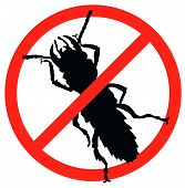 stock photo of mosquito repellent  - Bug vector silhouette isolated - JPG