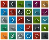 pic of arrowhead  - Vector illustration of plain square arrow icons - JPG