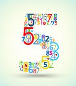 pic of numbers counting  - Number 5 - JPG