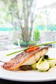 foto of dory  - plum glazed grilled barramundi steak - JPG
