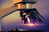 pic of microscope slide  - Research microscope - JPG