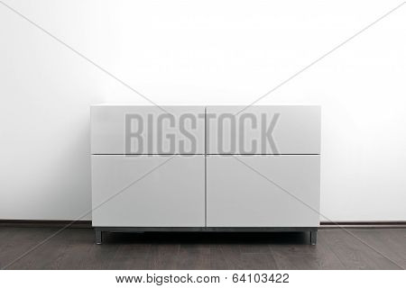 White Chest Of Drawers In Bright Minimalism Interior