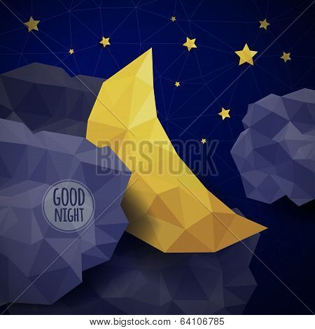 Vector triangle background