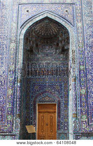 Decoration of Shakhizinda, Samarkand, Uzbekistan