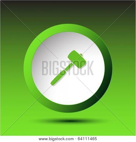 Mallet. Plastic button. Vector illustration.