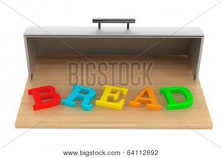 Modern Steel Bread Bin With Bread Sign