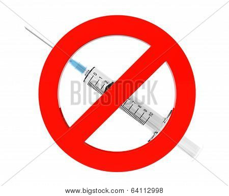 Drugs Are Forbidden Sign