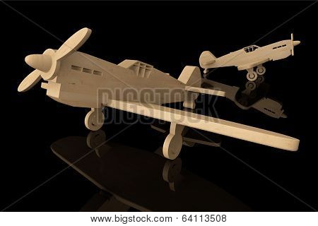 3D Wooden Toy Airplanes