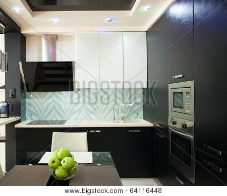 Kitchen interior. Kitchen in modern style
