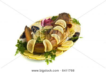 Food - Bloated Fresh-water Catfish (sheatfish) With Lemon