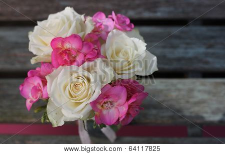 Rose and fuchsia posy