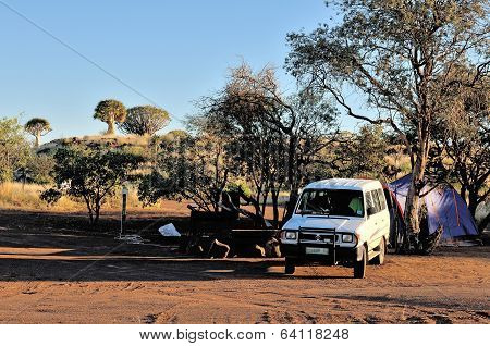 Camping At The Quiver Tree Forest, Namibia