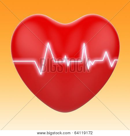 Electro On Heart Means Cardiology Or Heart Health