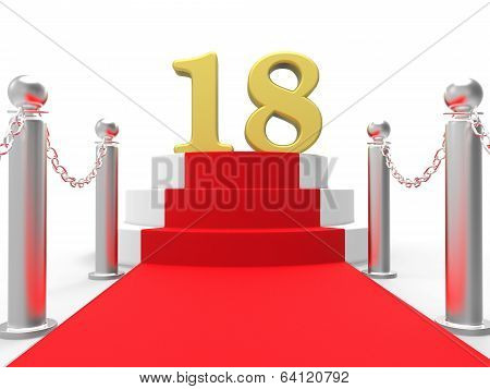 Golden Eighteen On Red Carpet Means Celebrity Eighteenth Birthda