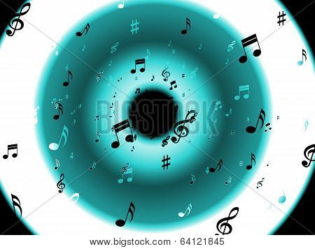 Musical Notes Background Means Classical Melody Or Music Chord