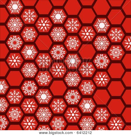 Honeycomb Snowflake Pattern