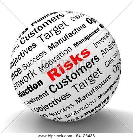 Risks Sphere Definition Shows Insecurity And Financial Risks
