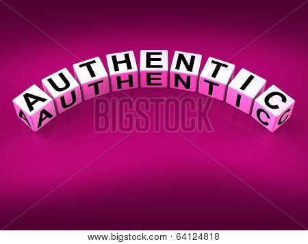 Authentic Blocks Show Certified And Verified Authenticity