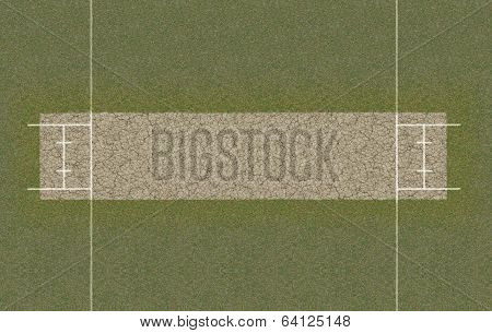Cricket Pitch Top View