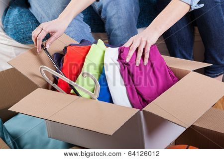 Family Packing Clothes