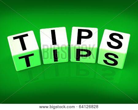 Tips Blocks Mean Hints Suggestions And Advice