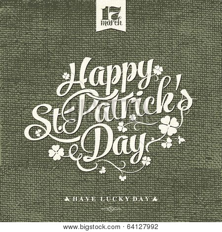 Saint Patrick's Day Typographical Background
