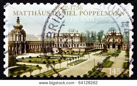 Postage Stamp Germany 2012 Zwinger Palace, Dresden