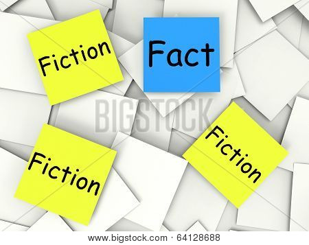 Fact Fiction Notes Show Factual Or Untrue