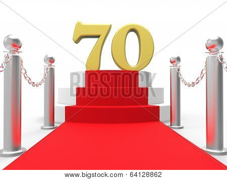 Golden Seventy On Red Carpet Shows Celebrities Remembrance And R
